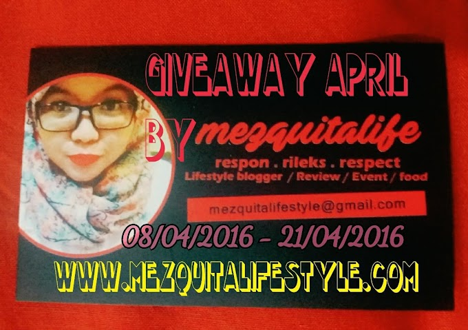 GIVEAWAY APRIL 2016 By Mezquitalifestyle