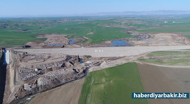 DİYARBAKIR-Orman ve Su İşleri Bakanlığı Devlet Su İşleri (DSİ) Genel Müdürlüğü Diyarbakır'da Başlar Barajı'nı tamamladı.