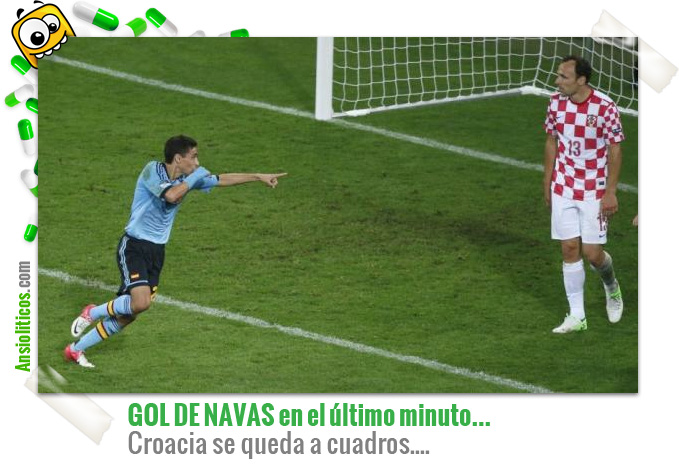 Chiste Eurocopa: Navas marca el Gol a Croacia