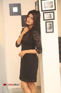 Actress Kimaya Phtoos in Black Short Dress at Kotha Kothaga Unnadi Press Meet 0009
