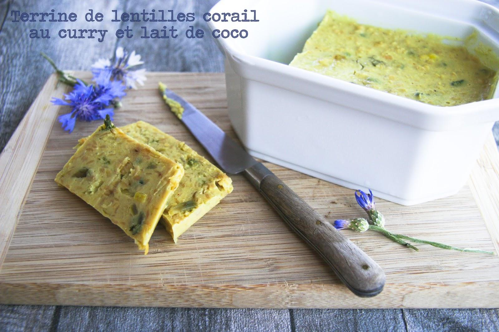 Terrine De Lentilles Corail Au Curry Et Lait De Coco