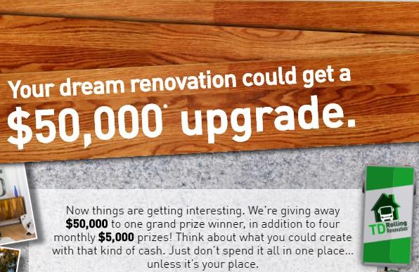 Hgtv $50 000 renovation sweepstakes hgtv