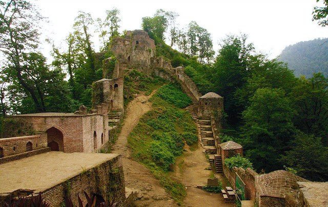 Rudkhan Castle in the middle of Northern forests. Iran