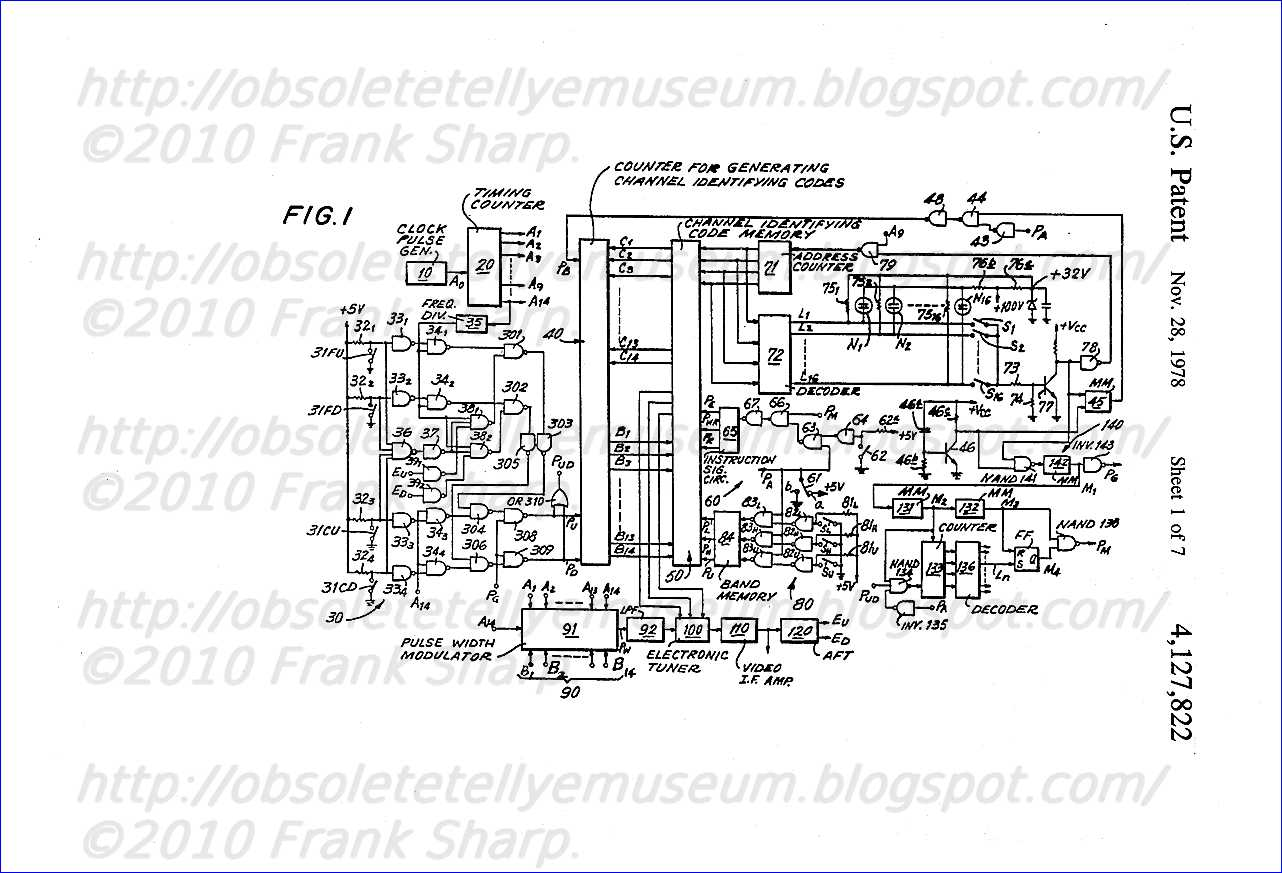 Obsolete Technology Tellye Sony Kv 2210et Chassis Scc 393c Ye 2 A34 Current Detection Sensor Module Ac Short Circuit 50a 1 Is A Block Diagram Of Channel Selecting As Claimed In The Aforesaid Companion Case Ser No 716654 But Will Be Described Here An Especially