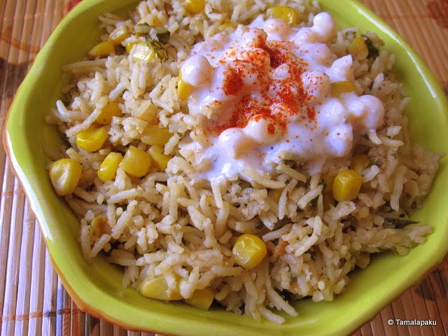 Methi-Corn Pulao