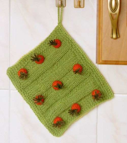 Carrot Field Potholder - Free Pattern