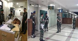 Super Ketat! Begini Cara TNI Menjaga Hermansyah di RSPAD Gatot Subroto