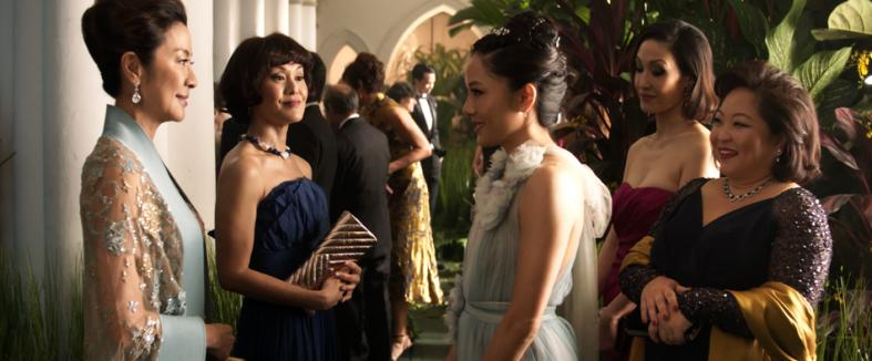 (From left: Michelle Yeoh, Janice Koh, Constance Wu, Amy Cheng and Selena Tan in Crazy Rich Asians)