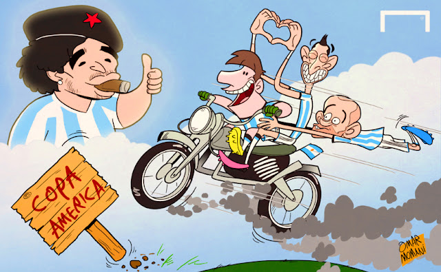 Argentina stars cartoon