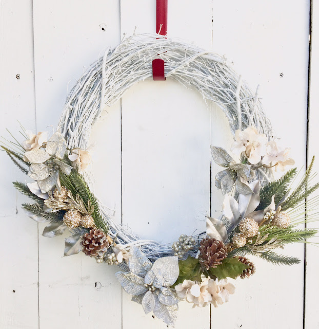 White DIY Christmas Wreath