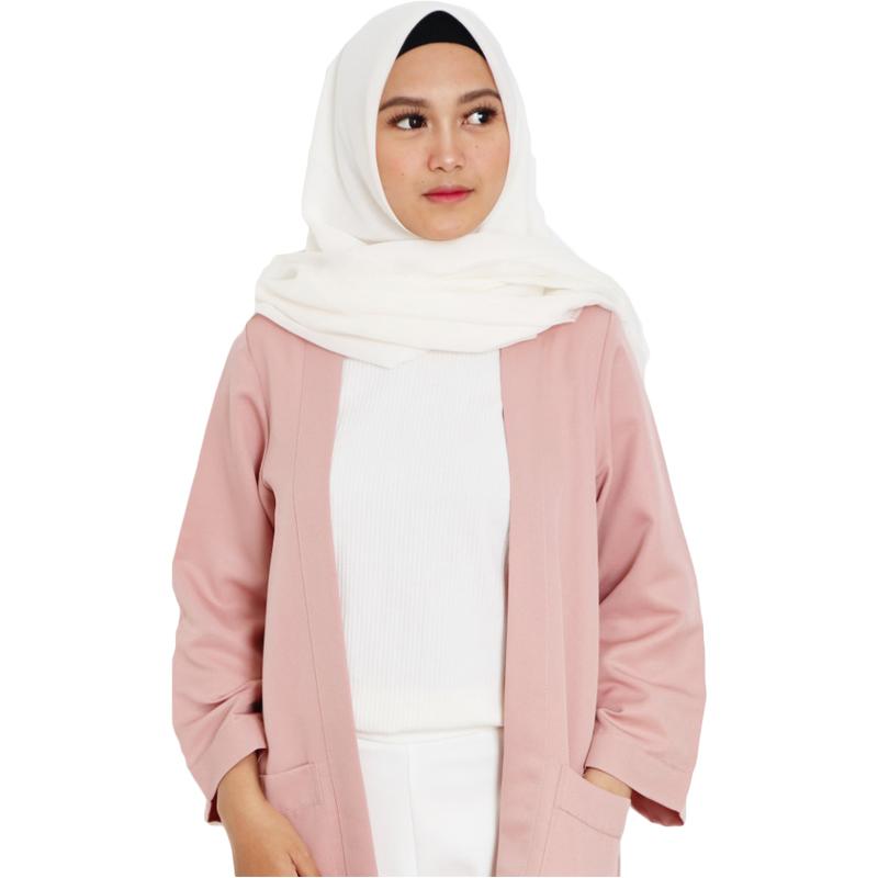 Outer Wanita Atasan Cardigan Muslim Casual - Nude Pink