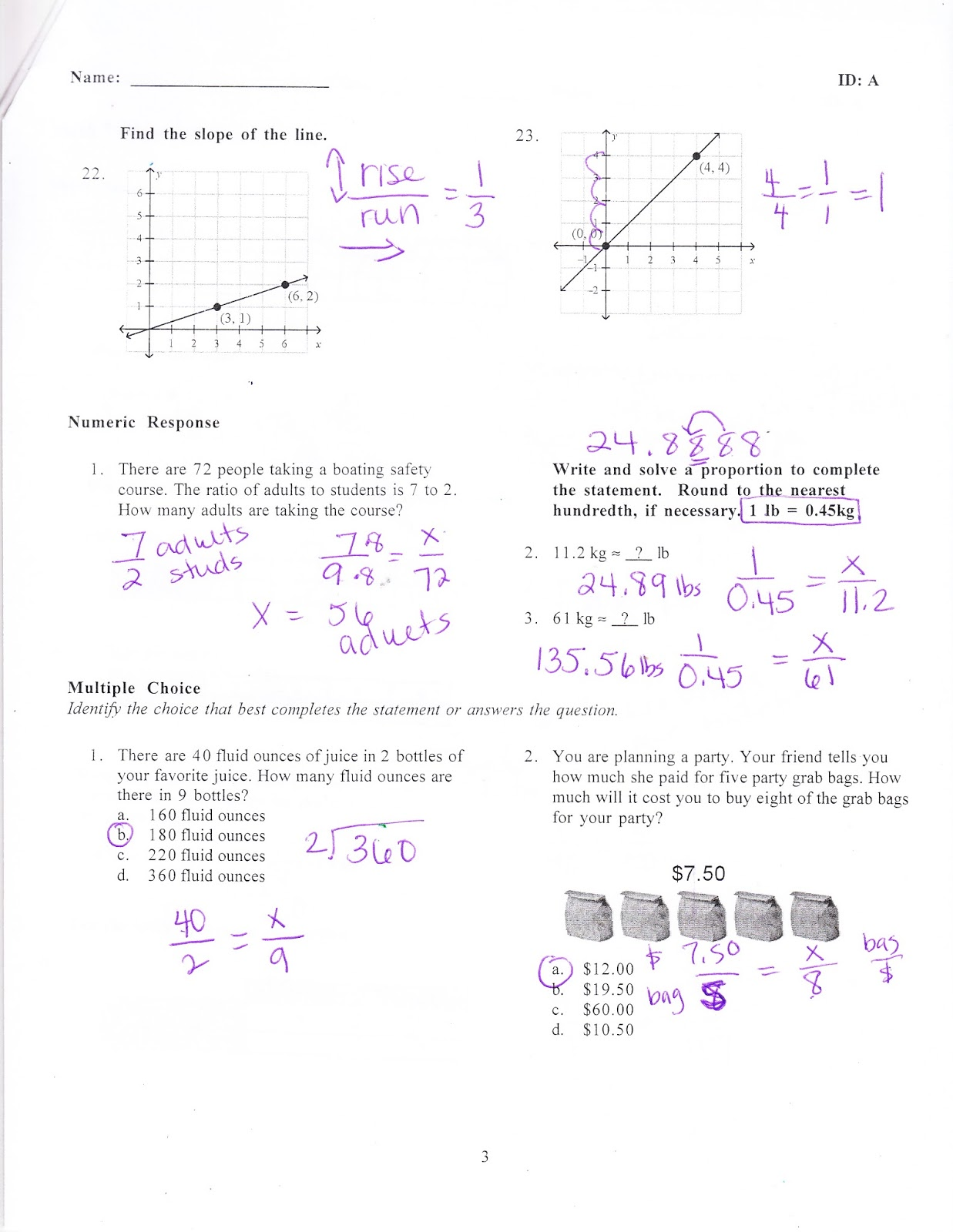 Ms  Jean's Classroom Blog: Chapter 5 Practice Test Answers