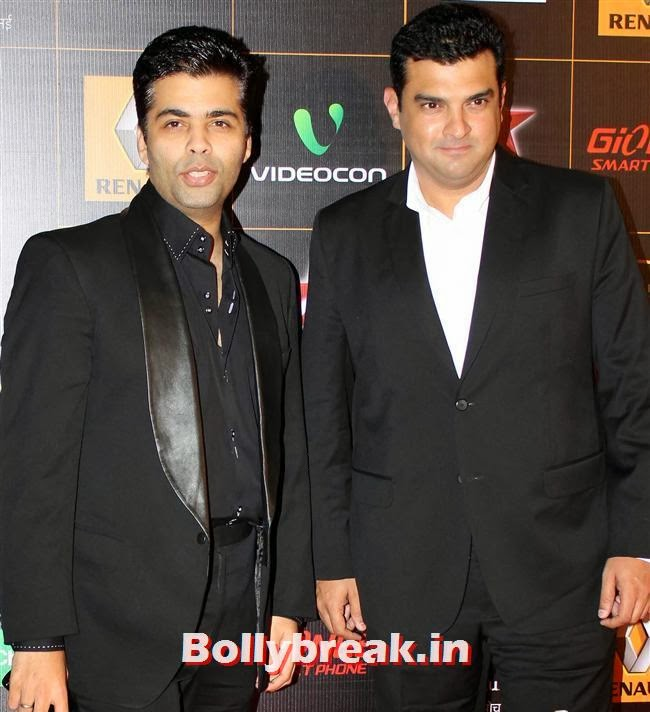 Karan Johar and Siddharth Roy Kapur, Star Guild Awards 2014 Pics