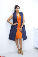 Priyamani in Beautiful Short Deep neck Orange Dress ~  Exclusive 15.JPG