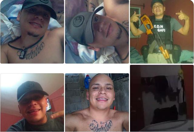 """Fotrafías filtradas de Victor """"El Burro"""" integrante del Cártel del Noreste posando con rifle y ropa de CDN"""