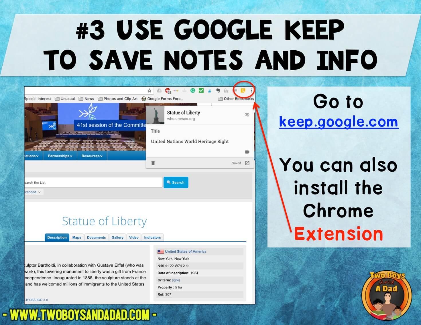 Use Google Keep