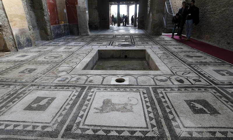 Restoration works at Pompeii unveiled