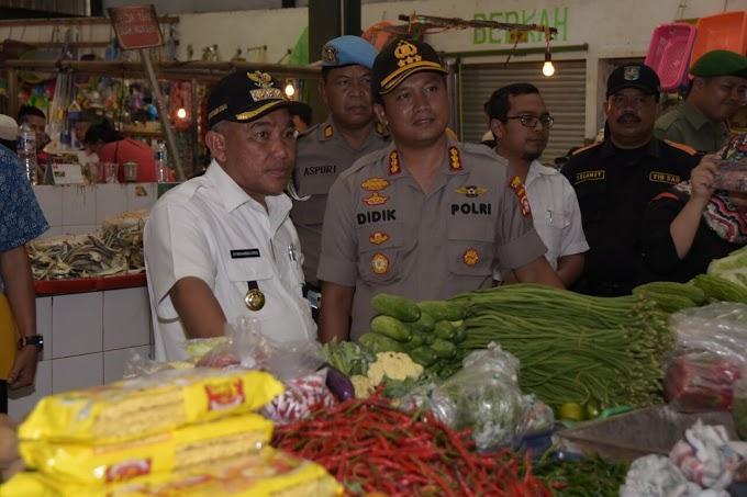 Jelang Ramadhan, Walikota dan Kapolres Sidak Harga Sembako