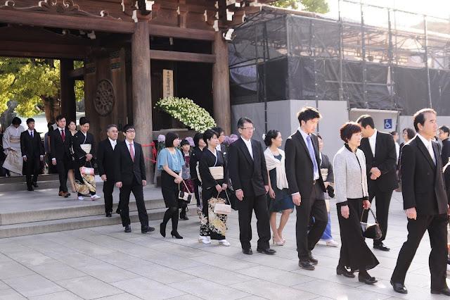 Japanese wedding at Meiji Jingu