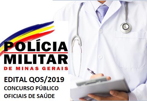 Concurso da PM-MG Oficiais de Saúde - QOS 2019
