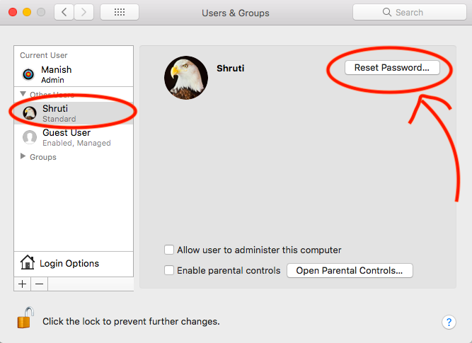 how to know admin username on mac
