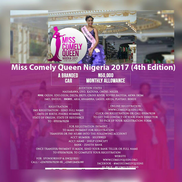 Miss Comely Queen flags off 2017 Registration