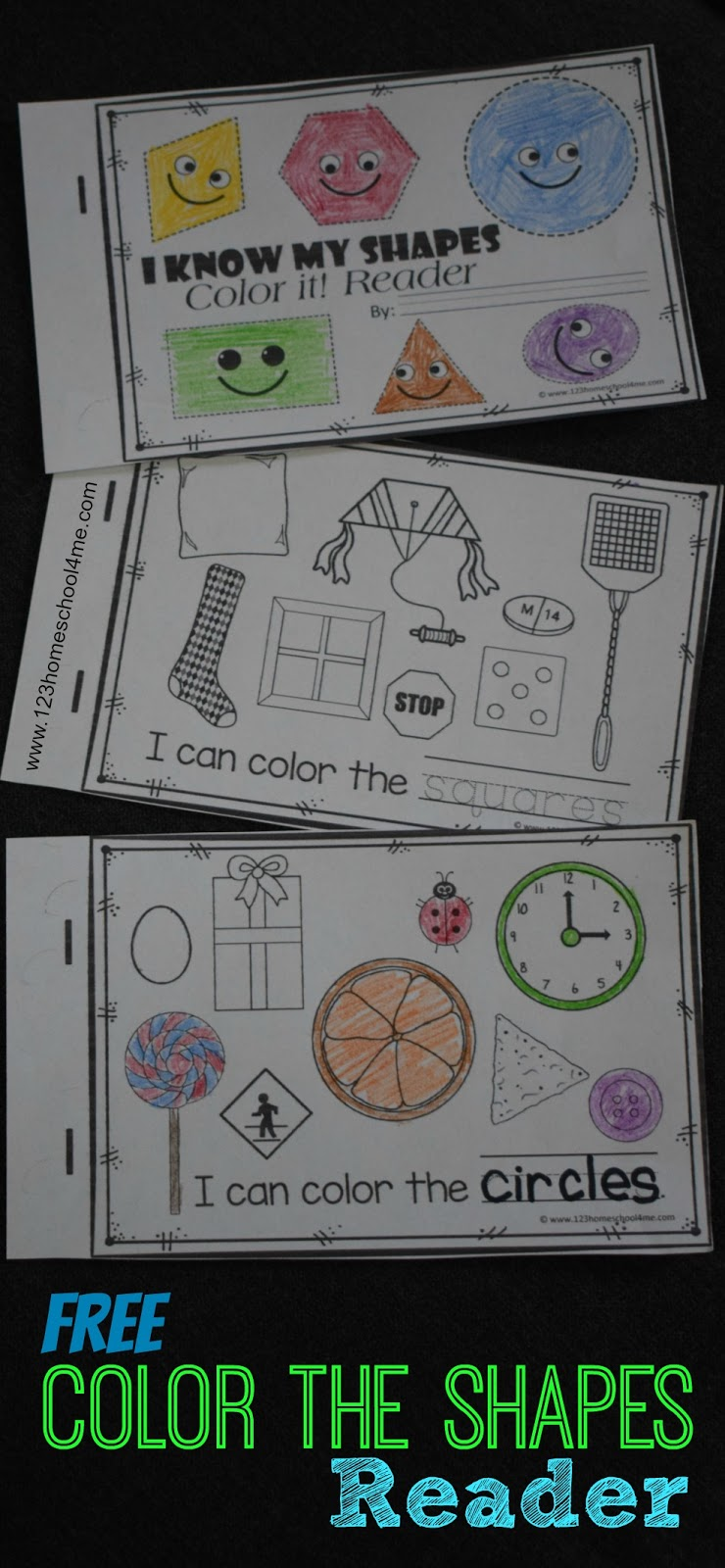 Kindergarten Worksheets and Games  FREE Names of Shapes Emergent Reader FREE Color the Shapes Reader   Includes shape worksheets for 9 shapes  Kids  read a