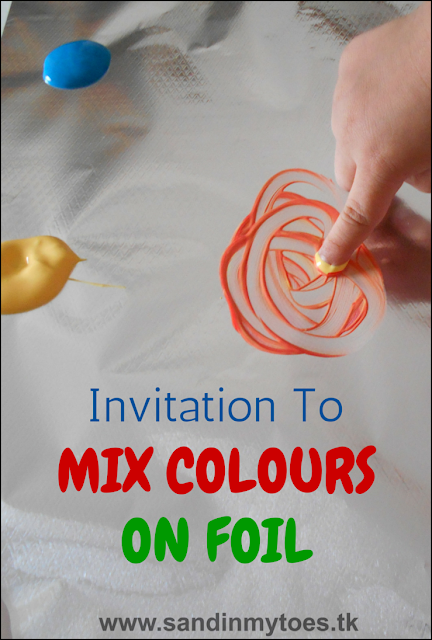 Busy Hands Invitation To Mix Colours Sand In My Toes