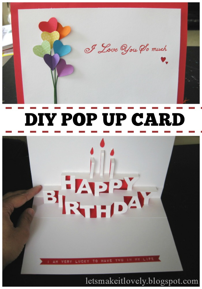Let 39 s make it lovely happy birthday pop up card for Pop up birthday cards for mom