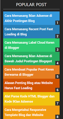 Widget Popular Post Berwarna di Blogspot