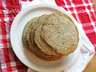 mixed lentil pancakes