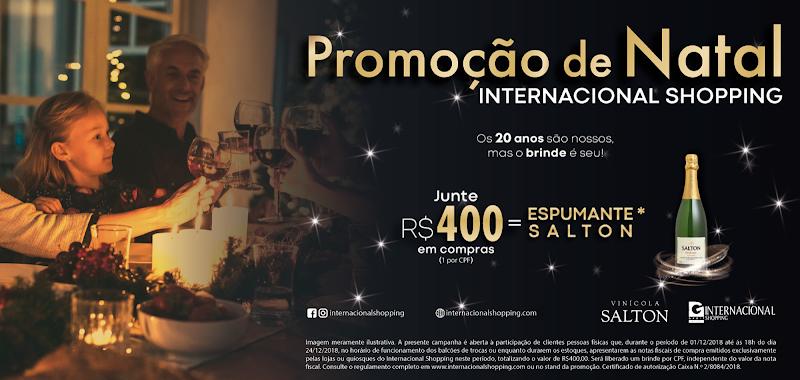 Internacional Shopping realiza campanha de Compre e Ganhe para clientes brindarem o fim de ano