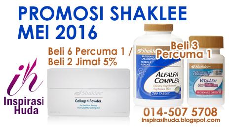 promosi, shaklee, mei, 2016, produk, suplemen, vitamin, inspirasihuda
