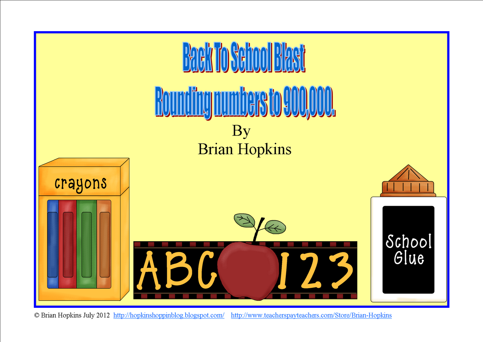 http://www.teacherspayteachers.com/Product/Back-To-School-Place-Value-Rounding-Blast-to-900000-FREEBIE-277863