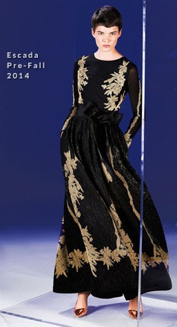 Then & Now ~ Black & Gold Gown