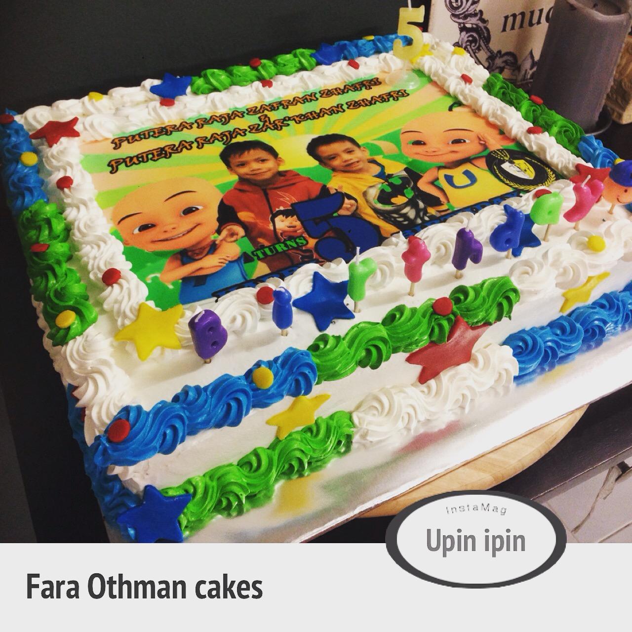 ~Cupcakes At Putrajaya~: UPIN IPIN BIRTHDAY CAKE