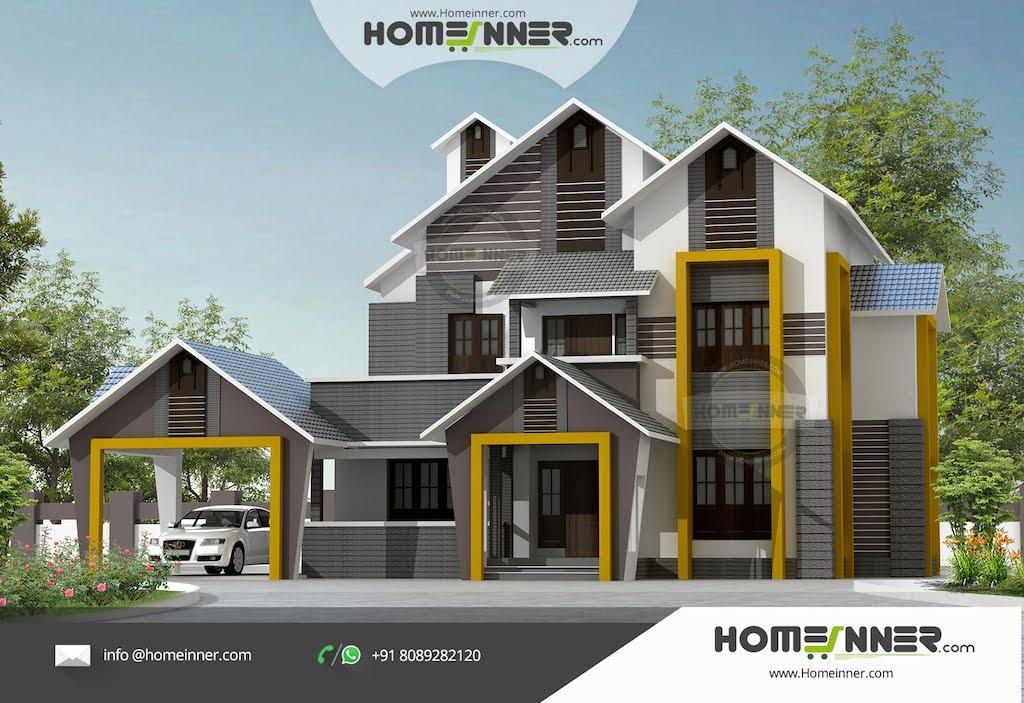 Indian Villa Designs Exterior Photos Of 2400 Sqft 4 Bhk Home Design