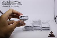 Jual alat sulap mouth coil white
