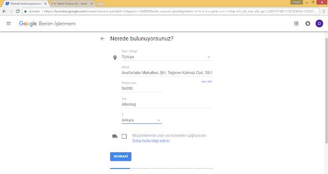 Google Benim İşletmem Doğrulama
