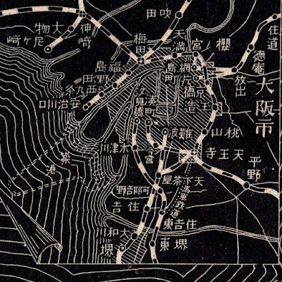 03 明治38年(1905)大日本汽車線路略図 大阪市