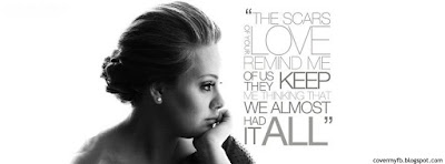 Facebook Photo Cover Of Adele Lyrics.