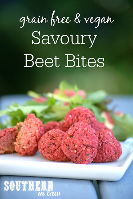 Healthy Savoury Beet Bites Recipe - meatless meatballs, beet balls, gluten free, vegan, grain free, egg free, dairy free, sugar free, low fat, low calorie, clean eating recipe