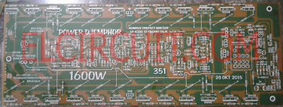 PCB LAYOUT for 1600W high power amplifier circuit
