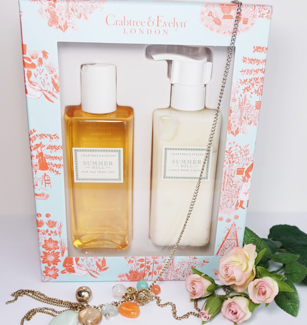 Crabtree & Evelyn - Summer Hill Körperpflege-Set Bodylotion Duschgel