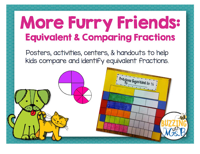 https://www.teacherspayteachers.com/Product/More-Furry-Friends-Fractions-Pack-Equivalent-and-Comparing-Fractions-250755