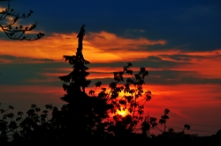 Sonnenuntergang am Abend...