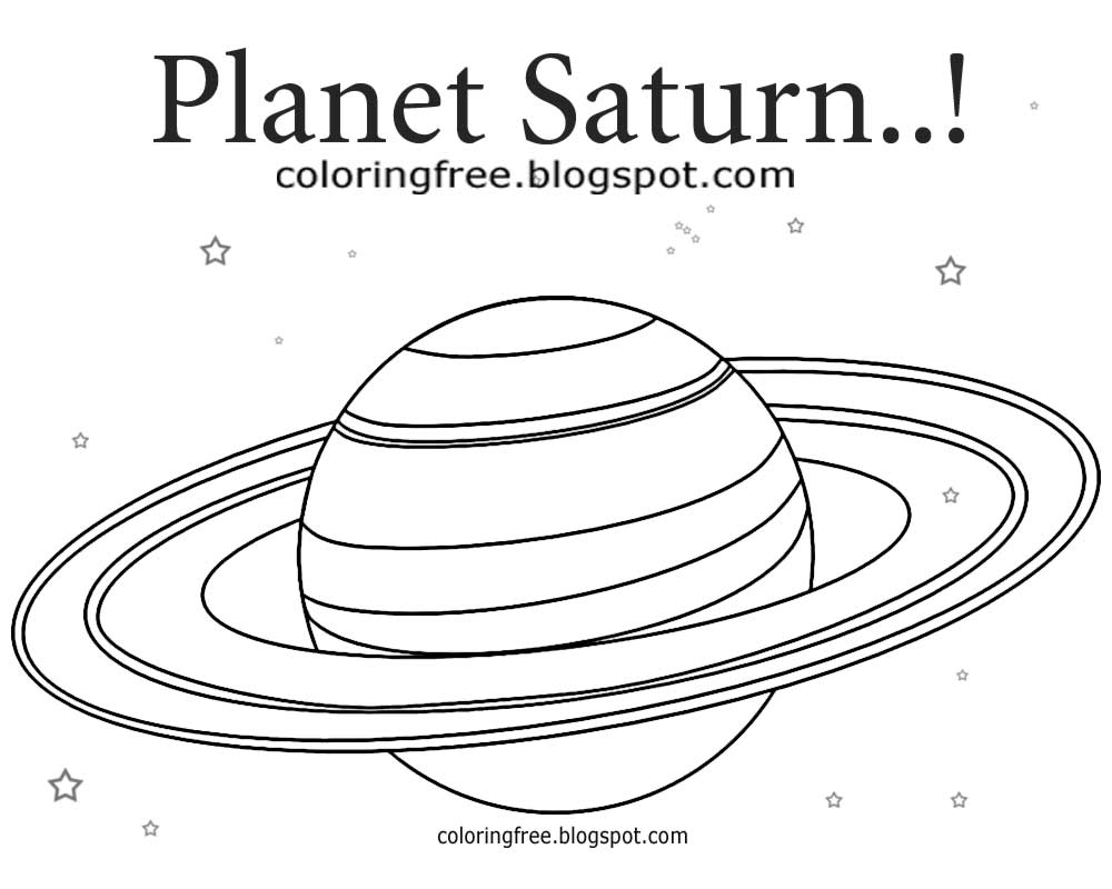 free planet saturn coloring pages - photo#17