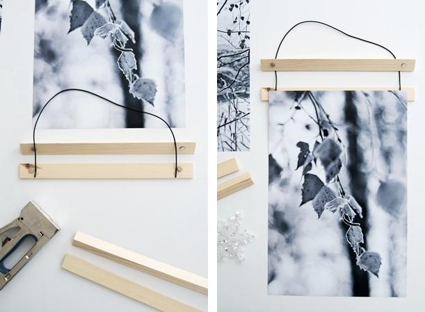 DIY Bilderleiste mit Magneten #sinnenrauschAdventskalender