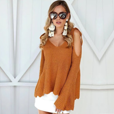 https://www.sevengrils.com/khaki-v-neck-cold-shoulder-bell-sleeves-ribbed-sweater.html