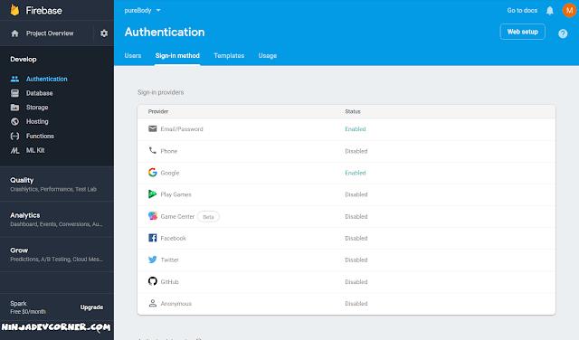 firebase login providers